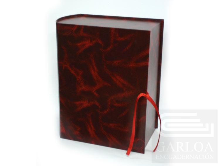 Caja-libro de cartón