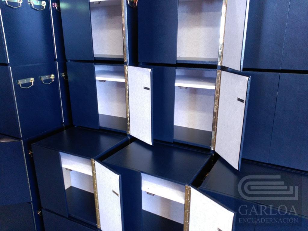 Cajas de madera apilables para carpetas din A4